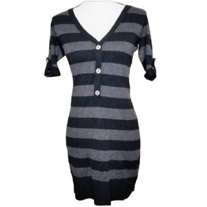 CHELSEA AND VIOLET STRIPED BODYCON  DRESS